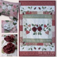 As Roses Bloom small quilt and cushion - One Day In May