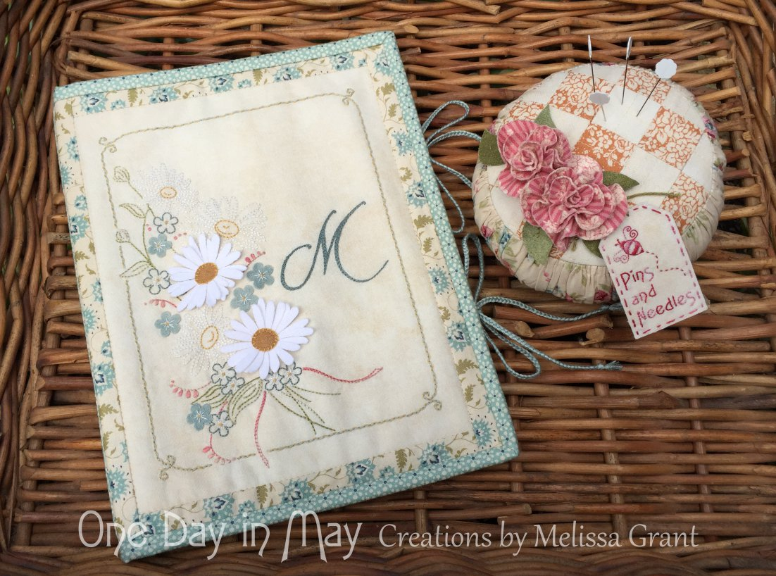 From the Fields - Organiser & Roses and Ruching - Pincushion