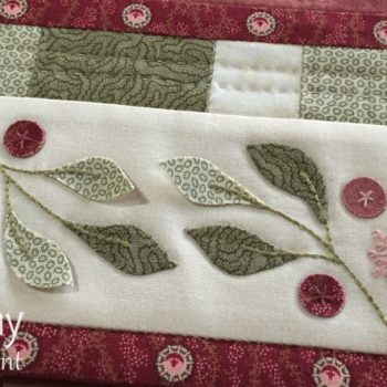 Lilly Pilly Table Runner with dimensional leaves