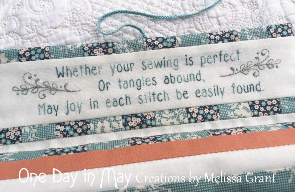 """Petite Blooms - Needlework Roll """"inside embroidery"""""""