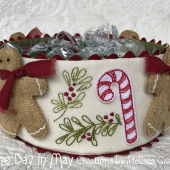 Sweet Treats - fabric candy cane and branch detail